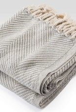 Throw - Gray Heather Herringbone