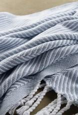 Throw - Misty Blue Herringbone