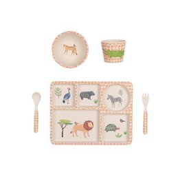 Bamboo Dinner Set - Safari