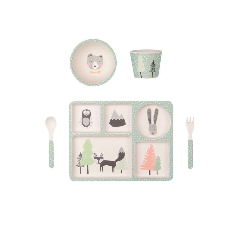 Bamboo Dinner Set - Fox