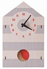 Pendulum Clock - Birdhouse Red