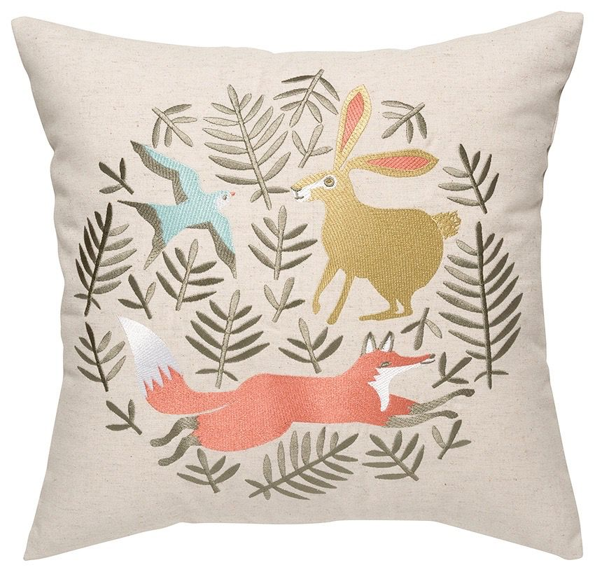 Throw Pillow - Woodland Fox
