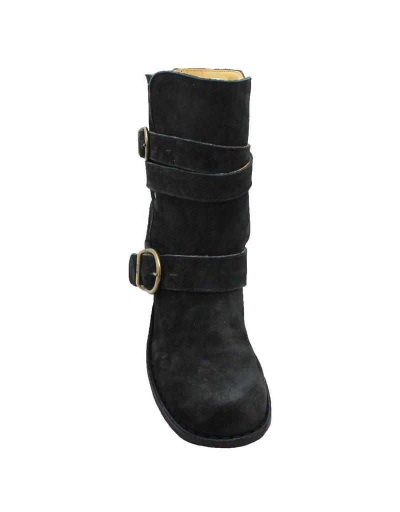 Fiorentini+Baker Black Suede Mellow Ankle Strap Moky