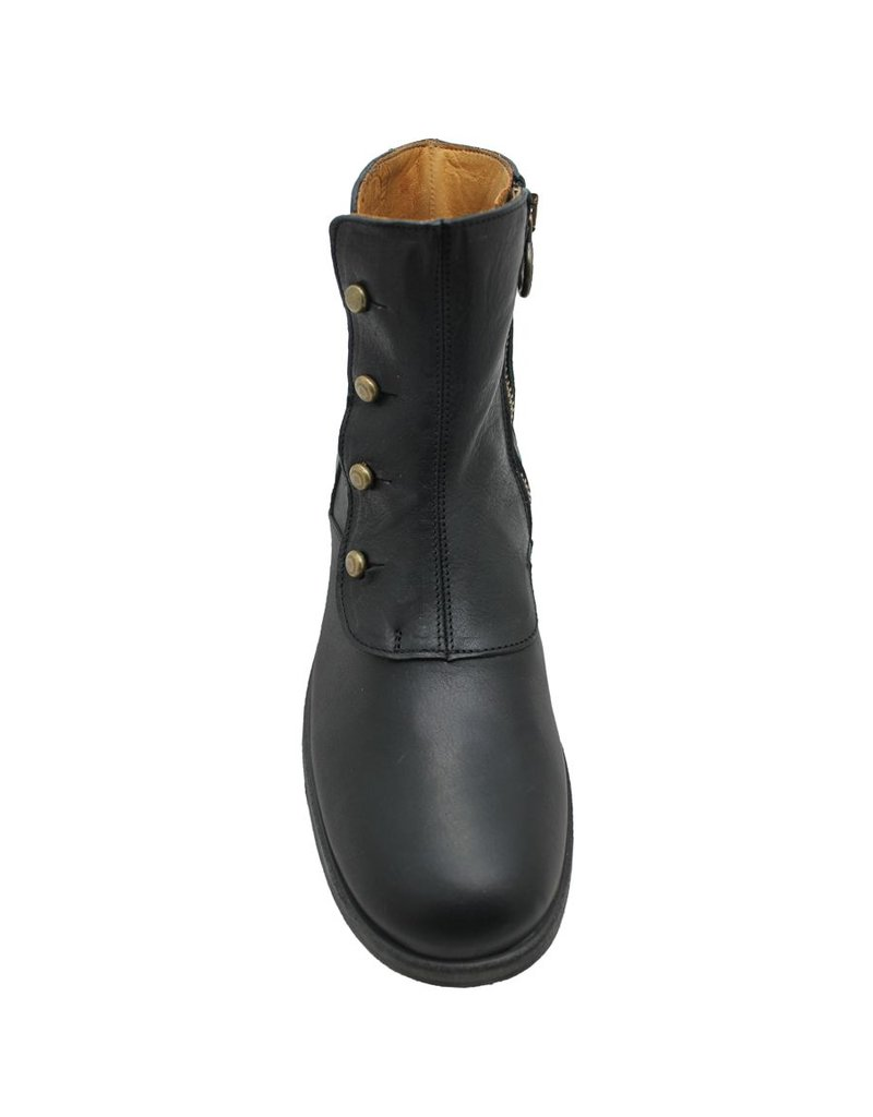 Fiorentini+Baker Black Studded Military Boots Gilly