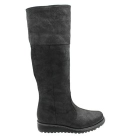 WaterProof Black Leather Knee Boot  Phoebe