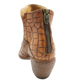 Fauzian Jeunesse Cuoio Multi Texture Western Ankle Boot 1894