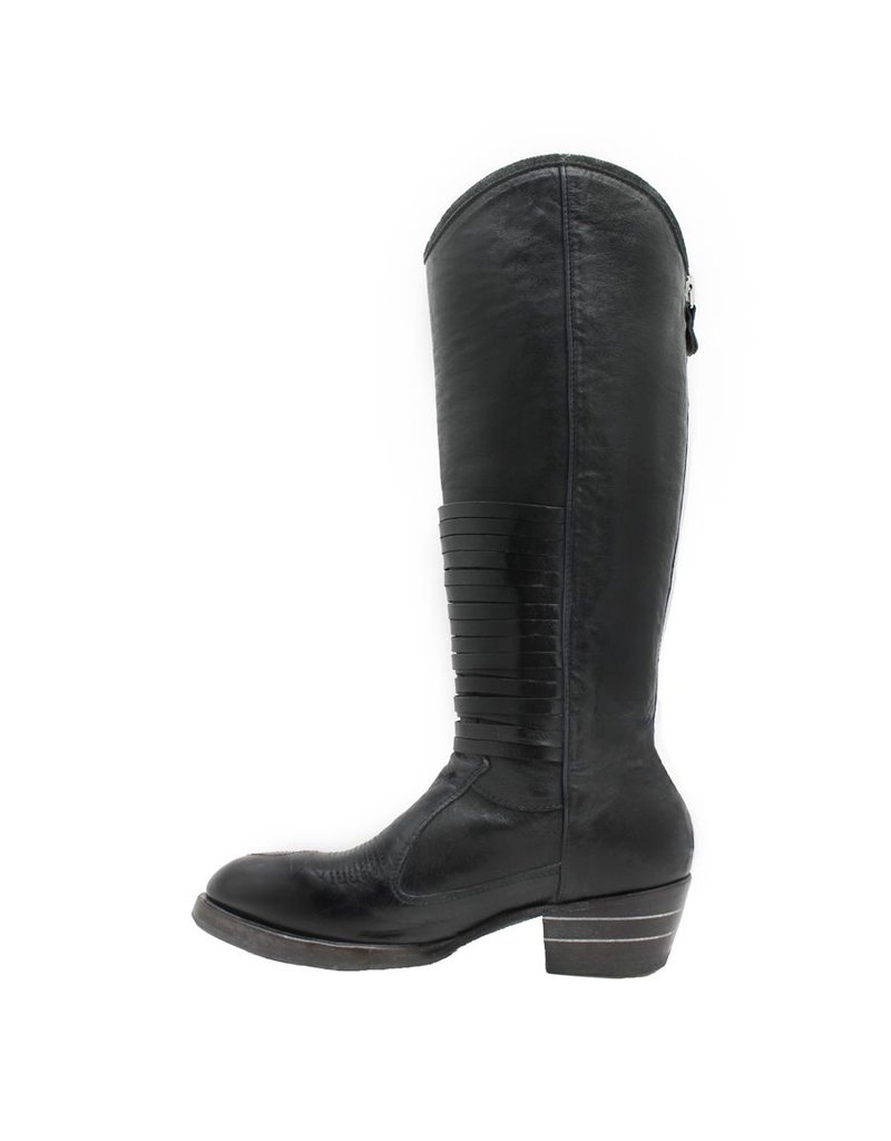 Moma Moma Smog Navy Knee Boot Black Bands 8481