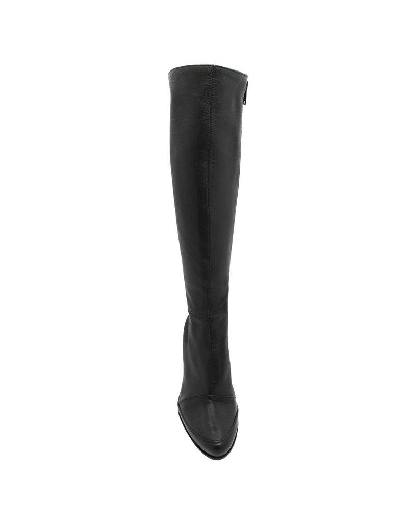 Ixos Ixos Black Medium Heel Fitted Knee Boot 5005