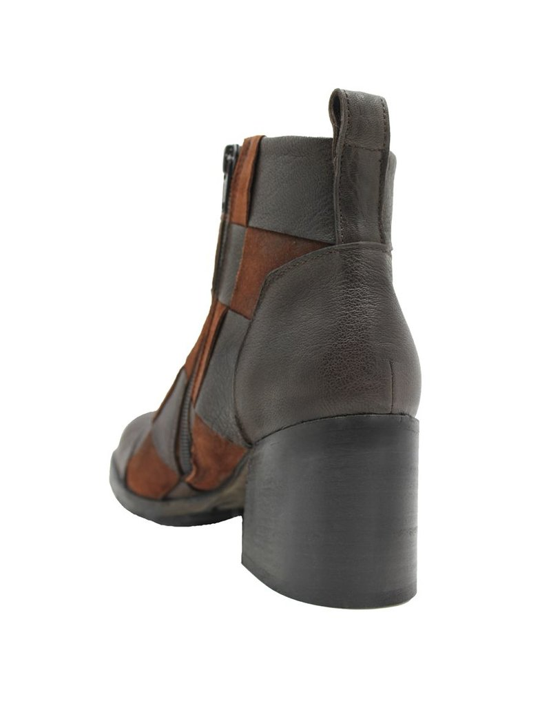 Ixos Ixos Brown Camel Woven Ankle Boot 4010