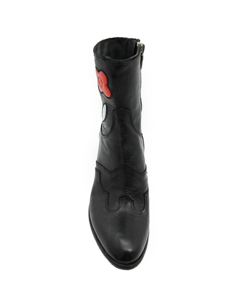 Fauzian Jeunesse FauzianJeunesse Black With Flower Overlay Boot 2048