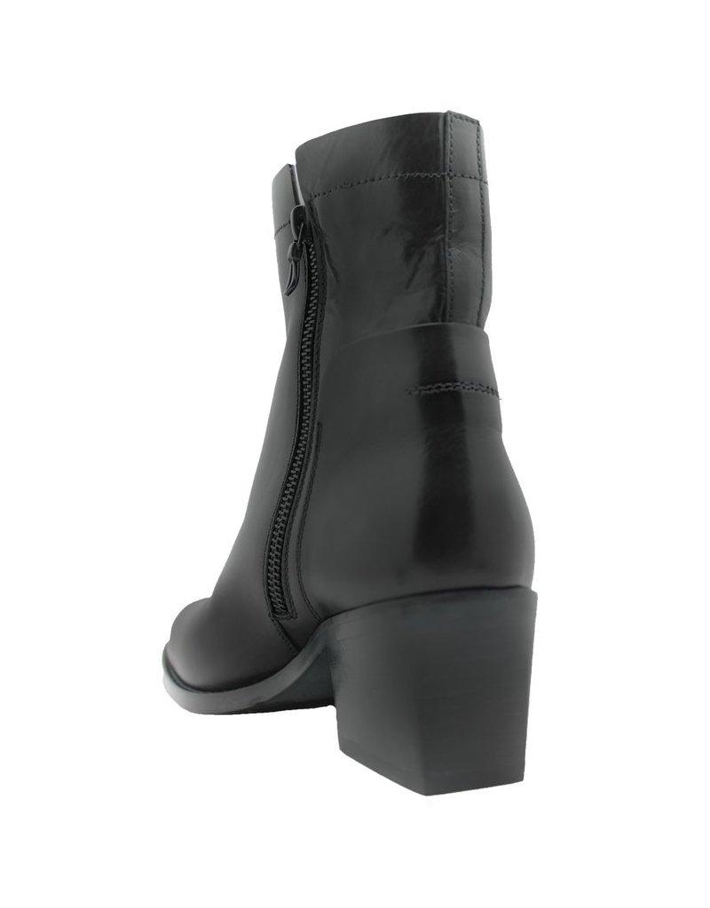 Ink Ink Black Side Zipper Ankle Boot 6140