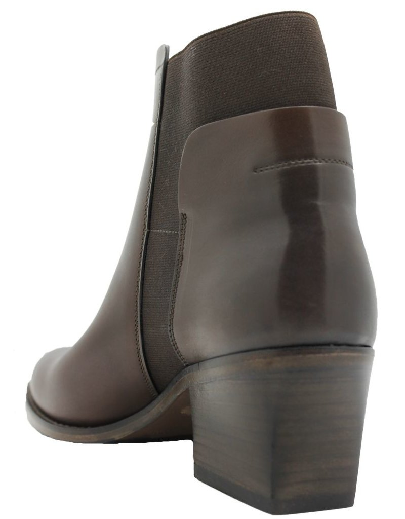 Ink Ink Brown Side Buckled Boot With Elastic 6110