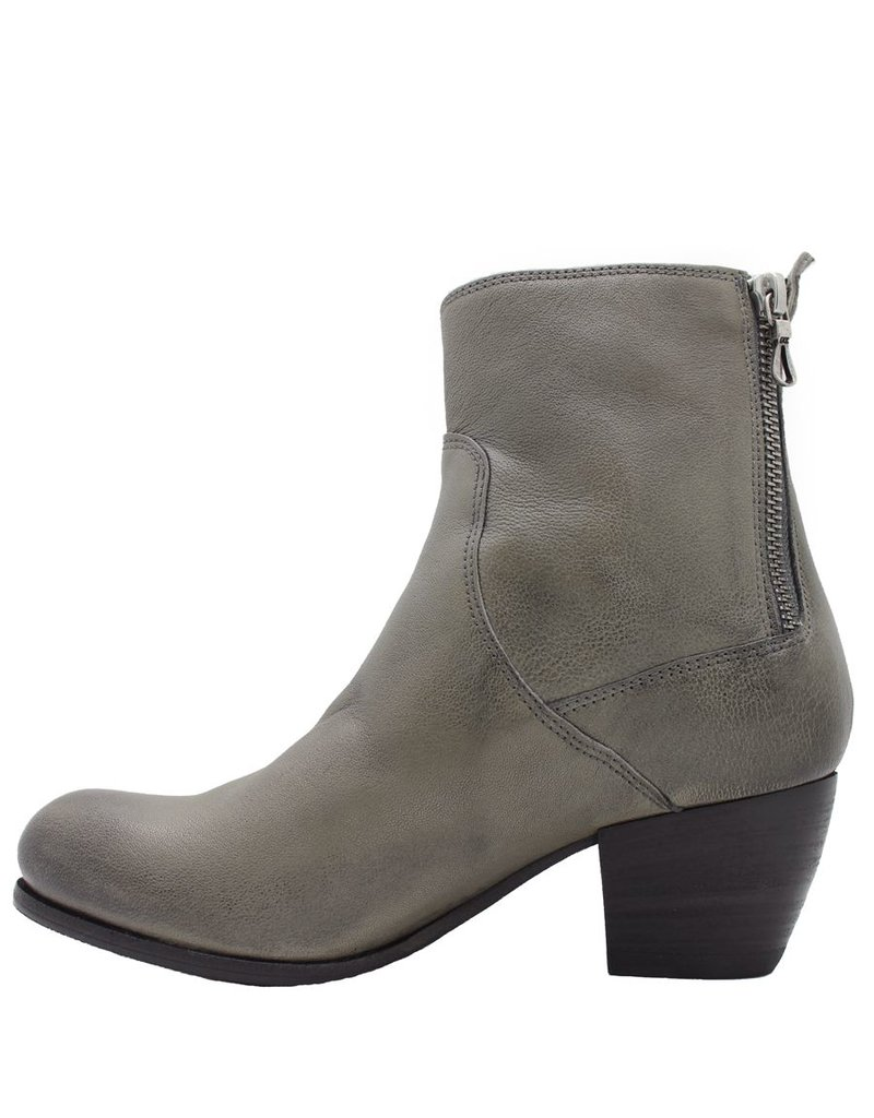 Ink Ink Grey Boot With Double Zipper 6630