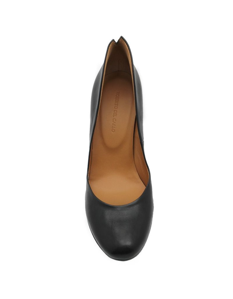 Del Carlo Del Carlo Black Stacked Heel Pump 2025