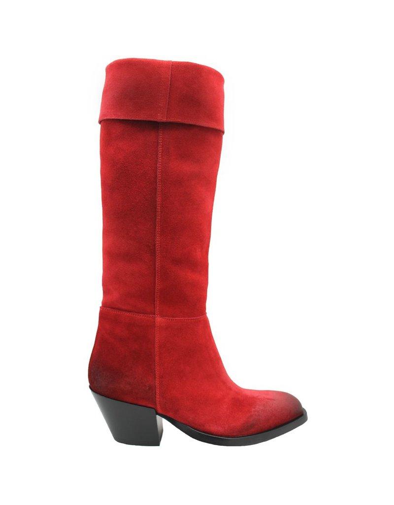 Elena Iachi ElenaIachi Red Suede Fold Down Boot 1913