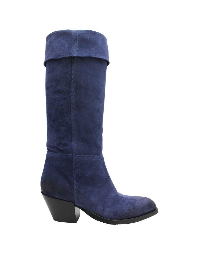 Elena Iachi ElenaIachi Cobalt Suede Fold Down Boot 1913