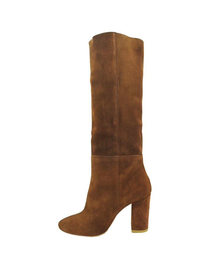 Strategia Strategia Tobacco Suede Pull On Knee Boot 2983
