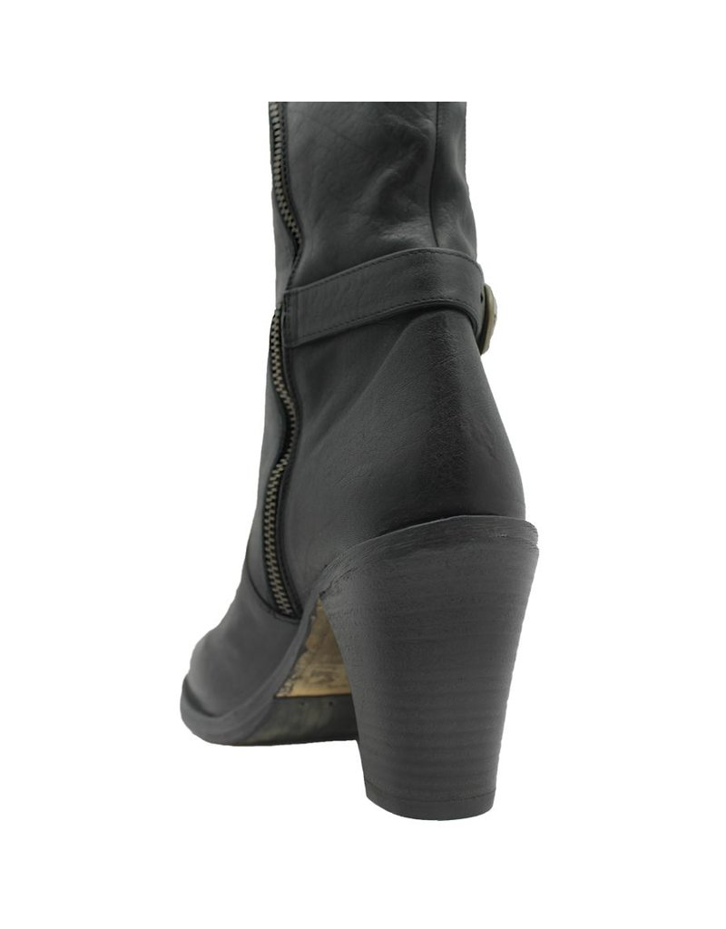Fiorentini+Baker Fiorentini Black Sculpted Heel Knee Boot Mou