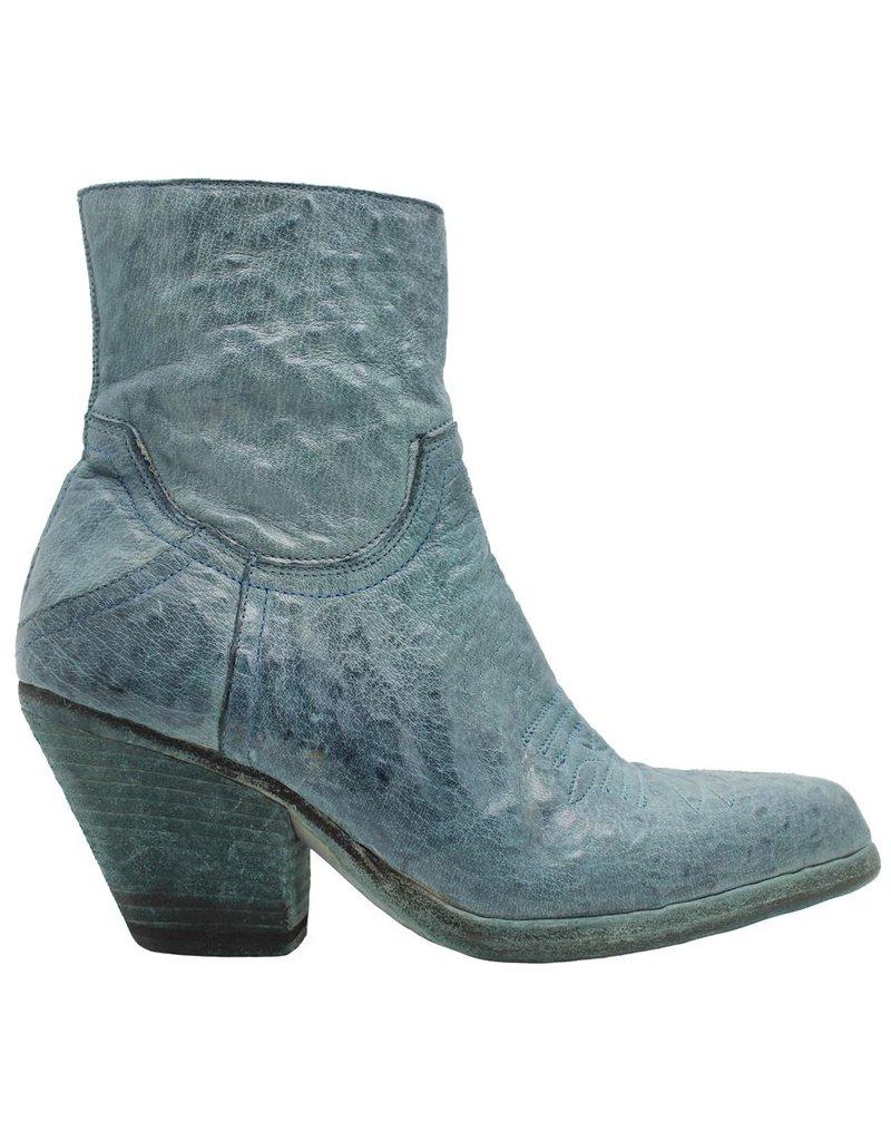 Fauzian Jeunesse FauzianJeunesse Turquoise Western Boot 2122