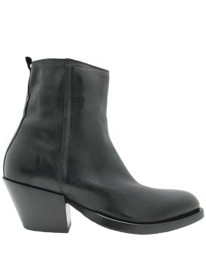 Elena Iachi ElenaIachi Black Side Zip Ankle Boot 1911