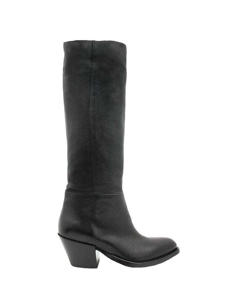 Elena Iachi ElenaIachi Black Leather Fold Down Knee Boot 1912