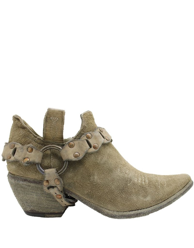 Fauzian Jeunesse Sand Suede Shoe Boot With Harness 1274