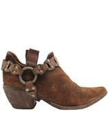 Fauzian Jeunesse Brown Suede Shoe Boot With Harness 1274