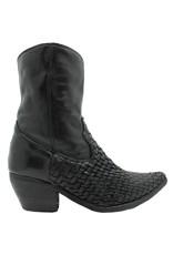 Fauzian Jeunesse Black Woven Mid-Calf Western Boot 1281