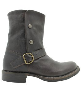 Fiorentini+Baker Fiorentini Ebony Buckled Boot With Snaps Edra