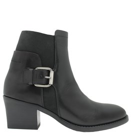 Ink Ink Black Side Buckled Boot With Elastic 6110
