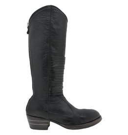 Moma Moma Smog Navy Knee Boot Black Bands 8481