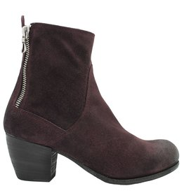 Ink Ink Bordo Nubuck Boot With Double Zipper 6630