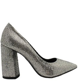 Strategia Silver Glitter Geometic Heel Wynn