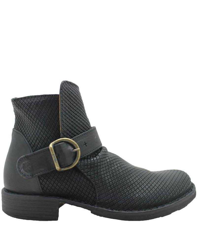 Fiorentini+Baker Black Reptile Print Boot 754