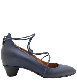 Del Carlo Del Carlo Blue Kitten Heel Ballerina 2106