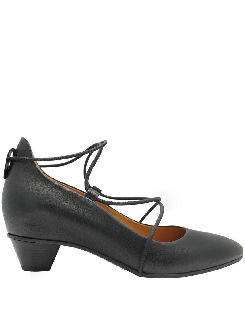 Del Carlo Del Carlo Black Kitten Heel Ballerina 2106