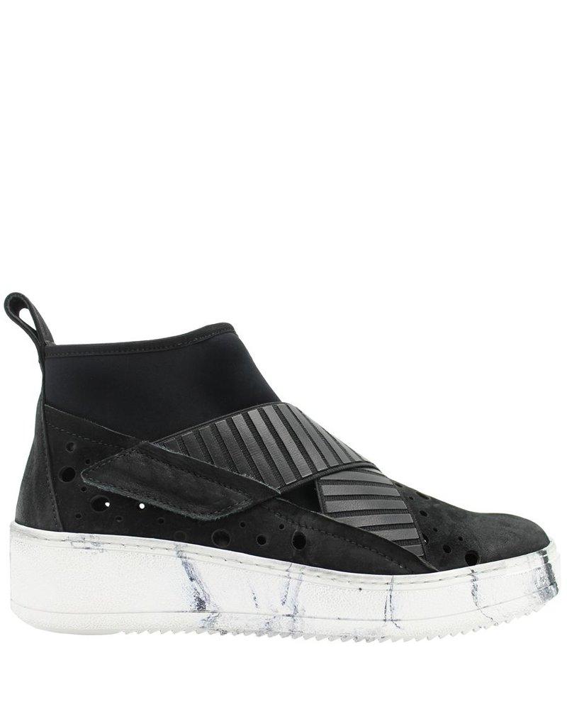 Now NOW Black Lycra Criss Cross Tennis Shoe 3697