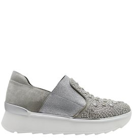 Now Now Silver Embellished Slip On Tennis Shoe 3600