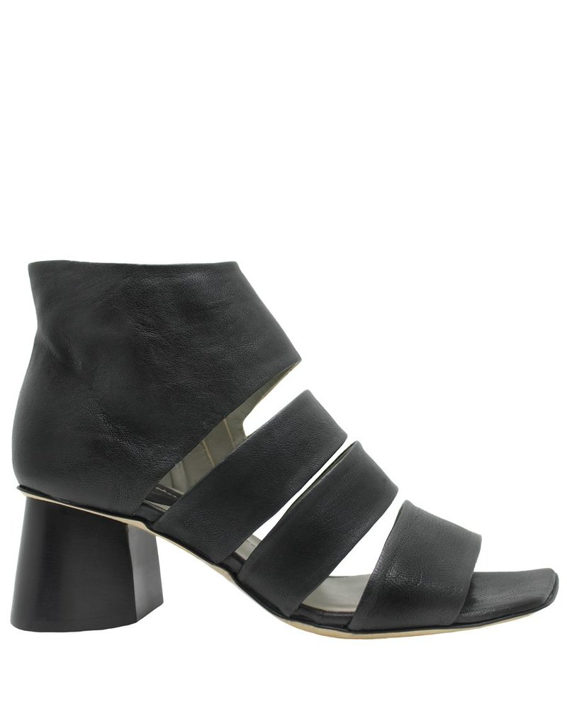 Ixos Ixos Black Gladiator Sandal Side Zipper 6607