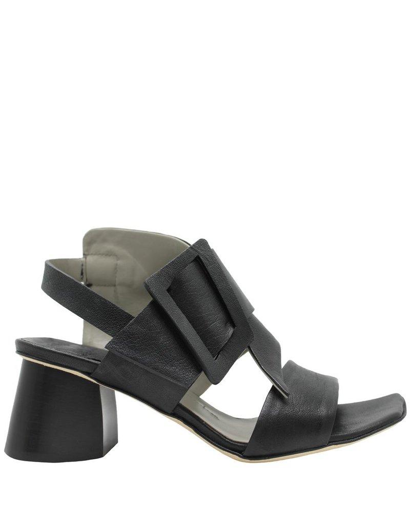 Ixos Ixos Black 2 Peice Sandal Geometric Heel  6606