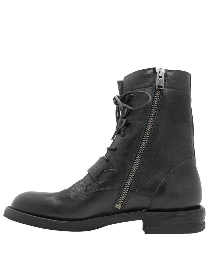 Pantanetti Pantanetti Black Buckled Moto Boot 9543