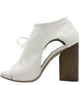 Ixos Ixos Latte High Block Heel Asymmetric Open Toe Sandal 3510