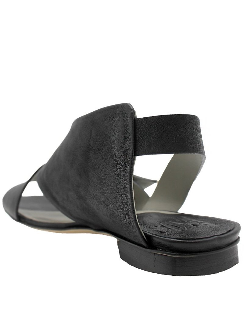 Ixos Ixos  Black Front  Buckled Flat Sandal 6007