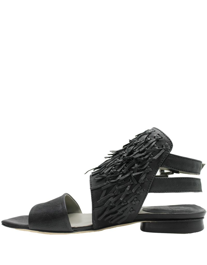 Ixos Ixos Black Tribal Double Sling Flat Sandal 6008