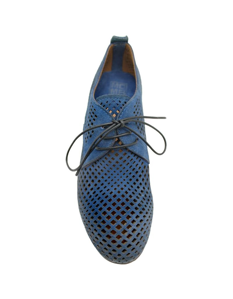 Moma Moma Blue Suede Laser Oxford 3970