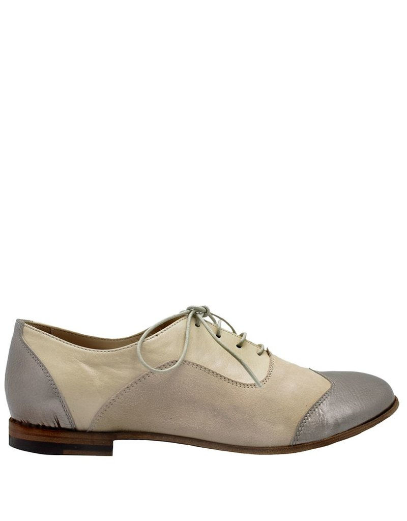Ink INK Silver Metallic Nude Oxford 1791