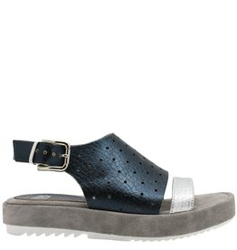 Now NOW Blue Perforated Sandal 3681