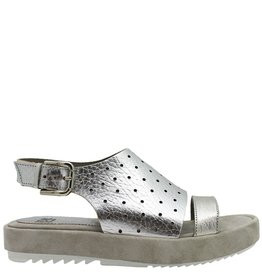 Now NOW Silver Perforated Sandal 3681