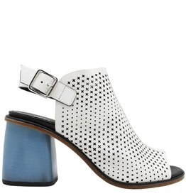 Halmanera Halmanera White Perforated Sling Sandal Sky High Heel Kerr