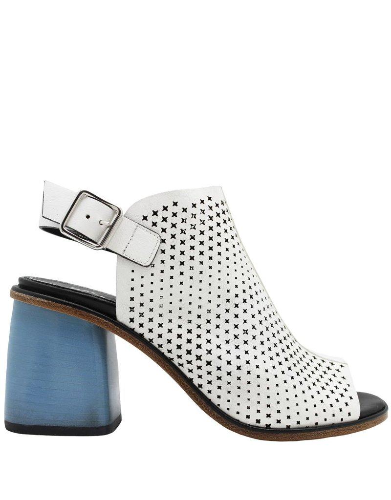 Halmanera Halmanera White Perforated Sling Sandal Sky High Heel Kerr